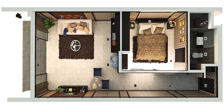 Patong Bay Hill Appartamento Vista Giardino e Piscina
